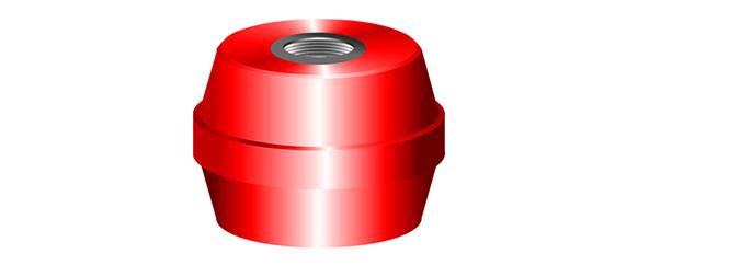 """1-35 Mm 1 3//8 /""""de plástico negro Suajes Capuchones insertos enchufe de tubo redondo insertar"""